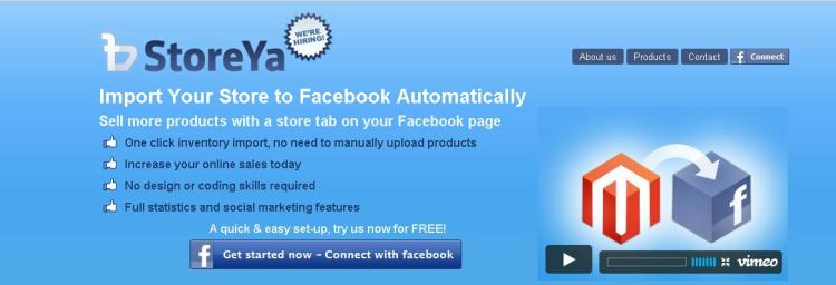 Facebook Ecommerce Store with StoreYa